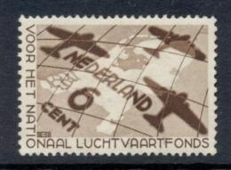 Nederland - 1935 - 6 Cent Luchtvaartfonds Met Extra Eiland In Het IJsselmeer, 278P MH - Errors & Oddities