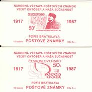 CSSR - CZECHOSLOVAKIA, 1987, Booklet 13/14, Social Revolution 1917-1987 - Other