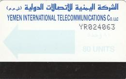 Yemen, YE-TLY-0003A, 80 Units, Light Blue Arrow, 2 Scans - Yemen