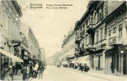 SERBIA  BEOGRAD  BELGRADO  BELGRADE  Rue Prince Michel - Serbia