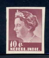 Nederlands Indië - 1933 - Proef 172c - Wilhelmina 10 Cent Roodlila Middenstuk In Klein Formaat - Niederländisch-Indien