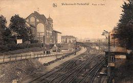 Welkenraedt Herbesthal - Poste Et Gare (animée, 1924) - Welkenraedt