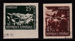 ESPAÑA 1938 - Homenaje A La 43 Division Serie Matasellada Edifil Nº 787A/788A SIN DENTAR - 1931-Aujourd'hui: II. République - ....Juan Carlos I