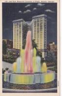 Georgia Atlanta Joel Hurt Memorial Fountain At Night Curteich