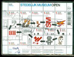 NEDERLAND NVPH  V.2989 - 98 *   BLOK BLOC * BLOCK * GEBRUIKT *  POSTFRIS GESTEMPELD * STEDELIJK MUSEUM - Periode 1980-... (Beatrix)