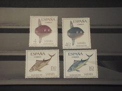 SAHARA SPAGNOLO - 1966 PESCI  4 Valori - NUOVI(++) - Sahara Spagnolo