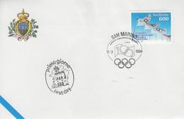 Enveloppe  FDC  1er  Jour   SAN  MARINO   Comité  International  Olympique    1994 - Juegos Olímpicos