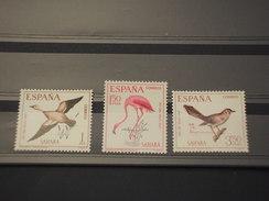 SAHARA SPAGNOLO - 1967 UCCELLI  3 Valori - NUOVI(++) - Sahara Spagnolo