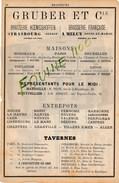 Brasserie Gruber Et Cie Strasbourg Koenigshoffen Melun Manufacture De Boulons Bouchacourt Magnard FOURCHAMBAULT - Publicités