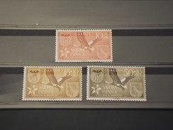 SAHARA SPAGNOLO - 1967 UCCELLO E FIORE  3 Valori - NUOVI(++) - Sahara Spagnolo