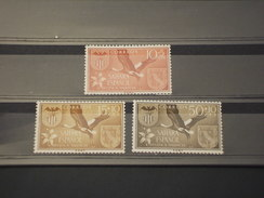 SAHARA SPAGNOLO - 1967 UCCELLO E FIORE  3 Valori - NUOVI(++) - Spanische Sahara