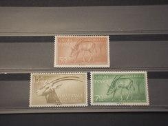 SAHARA SPAGNOLO - 1955 ANIMALI 3 Valori - NUOVI(++) - Sahara Spagnolo