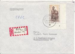 Germany Registered Cover München 28-7-1967 Single Franked Good BERLIN Stamp - [7] République Fédérale