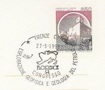 1991 Firenze OIL EXPLORATION GEOPHYSICS CONGRESS Event COVER Italy Geology Stationery Stamp Petroleum Minerals Energy - Erdöl
