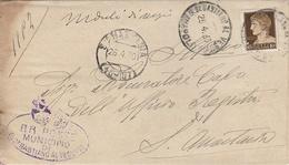 S. Anastasia. Annullo Frazionario ( 40 - 107 ) + Ovale MUNICIPIO S.SEBASTIANO AL VESUVIO + Testo, Su Lettera - Marcophilia