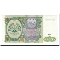 Tajikistan, 200 Rubles, 1994, KM:7a, NEUF - Tadjikistan
