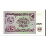 Tajikistan, 20 Rubles, 1994, KM:4a, NEUF - Tayikistán