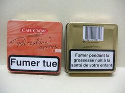 BOITE Métal Vide CAFE CREME PICCOLINI Arôme (20 Cigares) - Contenitore Di Sigari