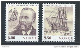 Norvège,  2004  N°1445/1446  Neufs**, Explorateur, Navigateur Otto Sverdrup - Norway