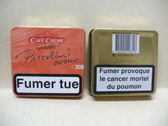 BOITE Métal Vide CAFE CREME PICCOLINI Arôme (20 Cigares) - Étuis à Cigares