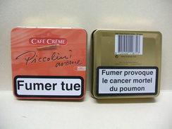 BOITE Métal Vide CAFE CREME PICCOLINI Arôme (20 Cigares) - Zigarrenetuis