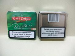 BOITE Métal Vide CAFE CREME Italian Macchiato (20 Cigares) - Contenitore Di Sigari