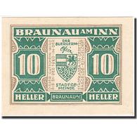 Autriche, Braunau Am Inn, 10 Heller, Blason, 1920, 1920-12-31, NEUF - Autriche