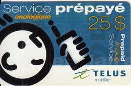 CANADA - Telus Prepaid Card $25, Exp.date 30/06/04, Used - Canada