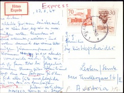 YUGOSLAVIA  - JUGOSLAVIA - MIXED FRANKING - EXPRESS CARD  - 1964 - 1945-1992 Socialist Federal Republic Of Yugoslavia