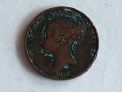 UK 1 PENNY 1858 ONE GRANDE BRETAGNE - 1816-1901 : Frappes XIX° S.