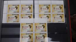 SENEGAL Bloc Block 4 CONFERENCE UNI AFRICA BANK BANQUE FINANCE GLOBAL UNION MAP HANDS MAINS CARTE AFRIQUE 2017 RARE MNH - Senegal (1960-...)