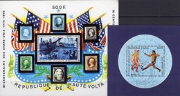 200 Jahre USA 1975 Obervolta Blocks 31+94 O 10€ Schiffe/Präsidenten Fußball Mexico 1986 Blocs Ss Soccer Sheets Faso - Burkina Faso (1984-...)
