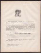 LIEGE ANGLEUR Gérard NAGELMACKERS 83 Ans 1859 Ancien Membre Du Congrès National Conseil Provincial Etc - Todesanzeige