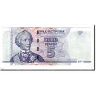 Transnistrie, 5 Rublei, 2007, KM:43, NEUF - Moldavie