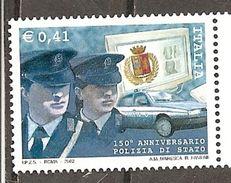 Italy. Scott # 2485 MNH. State Police 150th. Anniv. 2002 - 6. 1946-.. Repubblica