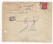 Cover * Portugal * 1949 * Registered * Bairro Andrade * Aviso De Recepção * Holed - 1910-... Republic