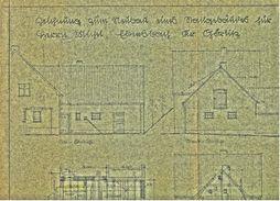 1946  -  Bauplan Von Einem Haus Im Kreis Görlitz  -  Ca. 48 X 31 Cm Größe - Architektur