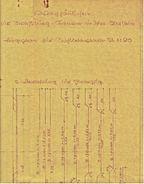 Ca. 1920  -  Bauplan Vom Wachhäuschen Für Die Straßburg-Kaserne In Idar-Oberstein  -  Ca. 54 X 54 Cm Größe - Architecture