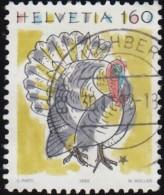SWITZERLAND - Scott #879 Turkey (*) / Used Stamp - Suisse