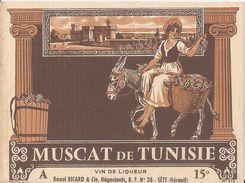 Muscat De Tunisie-raoul Ricard-negoçiant-sete - Etiquettes