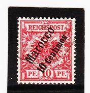 KAR435 DEUTSCHE AUSLANDSPOSTÄMTER MAROKKO 1899 MICHL  3 Used / Gestempelt Siehe ABBILDUNG - Deutsche Post In Marokko