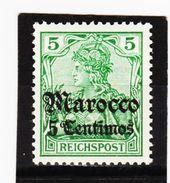 KAR440 DEUTSCHE AUSLANDSPOSTÄMTER MAROKKO 1905 MICHL 20 UNGEBRAUCHT Mit FALZ Siehe ABBILDUNG - Deutsche Post In Marokko