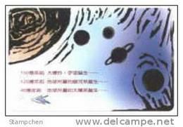 Taiwan Early Taipei Rapid Transit Train Ticket MRT Space Astronomy - Tram