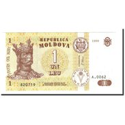 Moldova, 1 Leu, 1999, KM:8d, NEUF - Moldavie