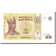 Moldova, 1 Leu, 2005, KM:8f, NEUF - Moldavie