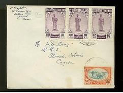 1940s Bangkok Thailand Cover To Canada - Thailand