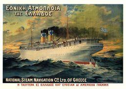 National Steam Navigation Co. Ltd. Of Grece Patris 1909 - Postcard - Poster Reproduction - Pubblicitari