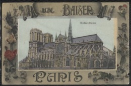 CPA - PARIS - FANTAISIE - UN BAISER N.DAME - Edition E.Le Deley (léger Défaut Côté Droit) - Notre Dame De Paris