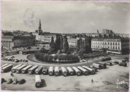 CPSM - NANTES - JARDIN DE LA PETITE HOLLANDE LA BOURSE (bus) - Edition Yvon - Nantes