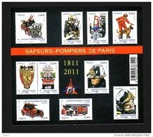 2011-N°F4582**(4582/4591 )SAPEURS- POMPIERS DE PARIS - Nuovi
